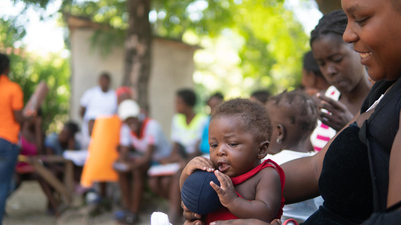Go Baby Go early childhood development learning session in Haiti