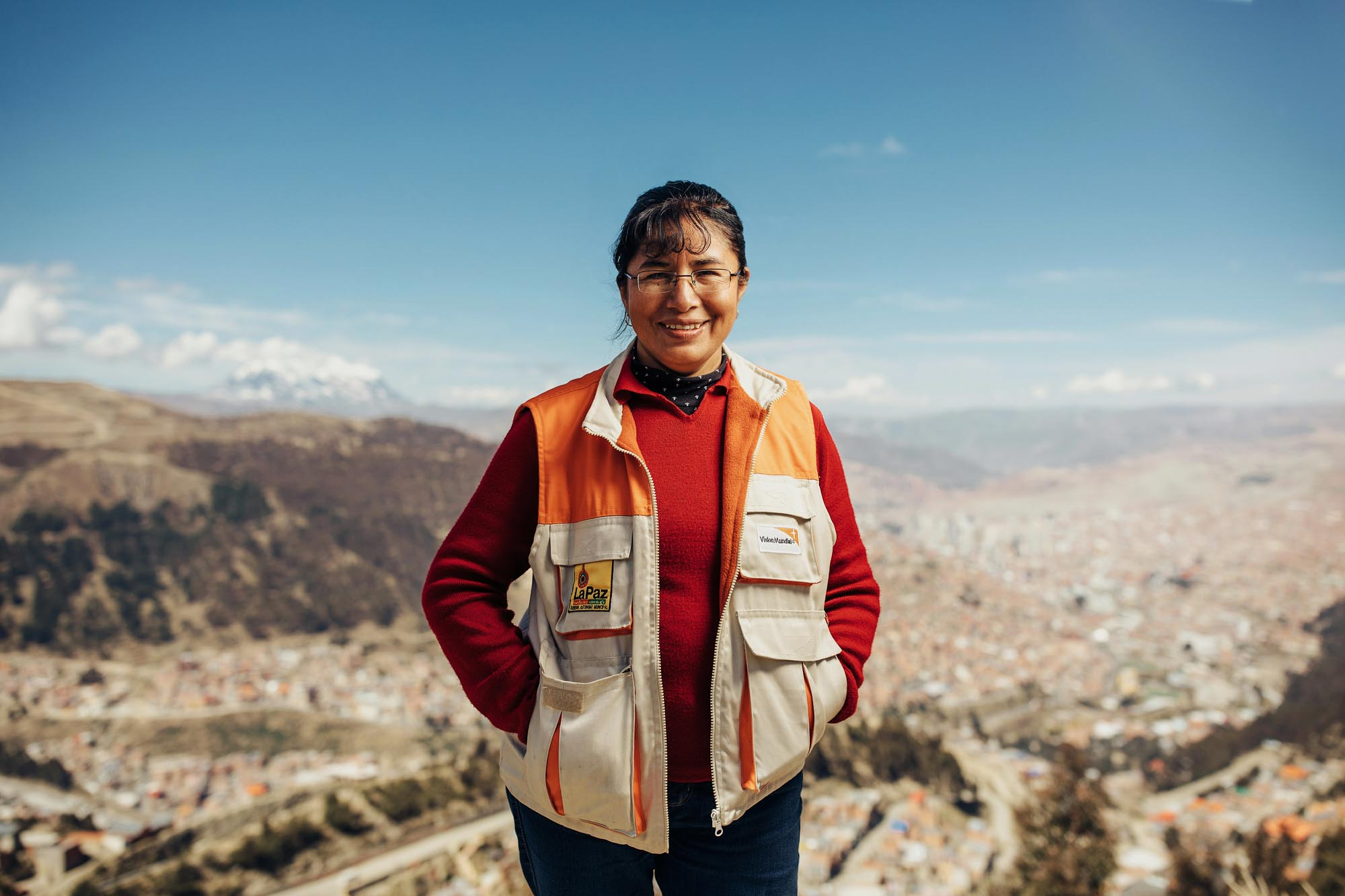 World Vision worker Doris from Bolivia