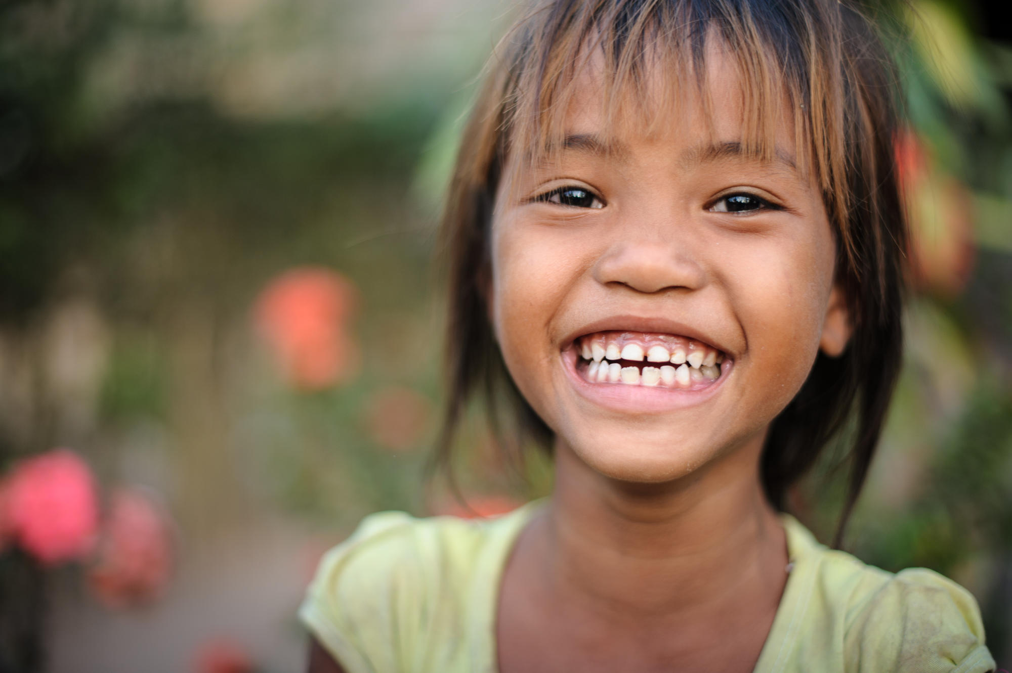 A Khmer girl smiles