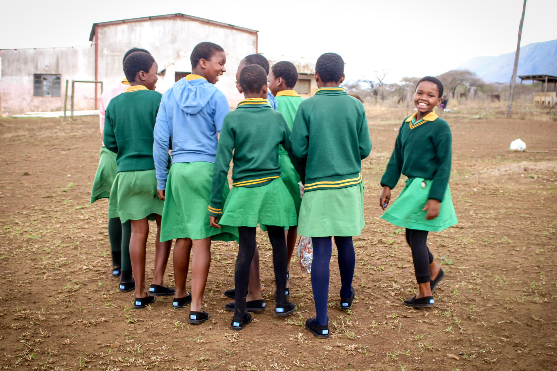 A group of school children in Eswatini