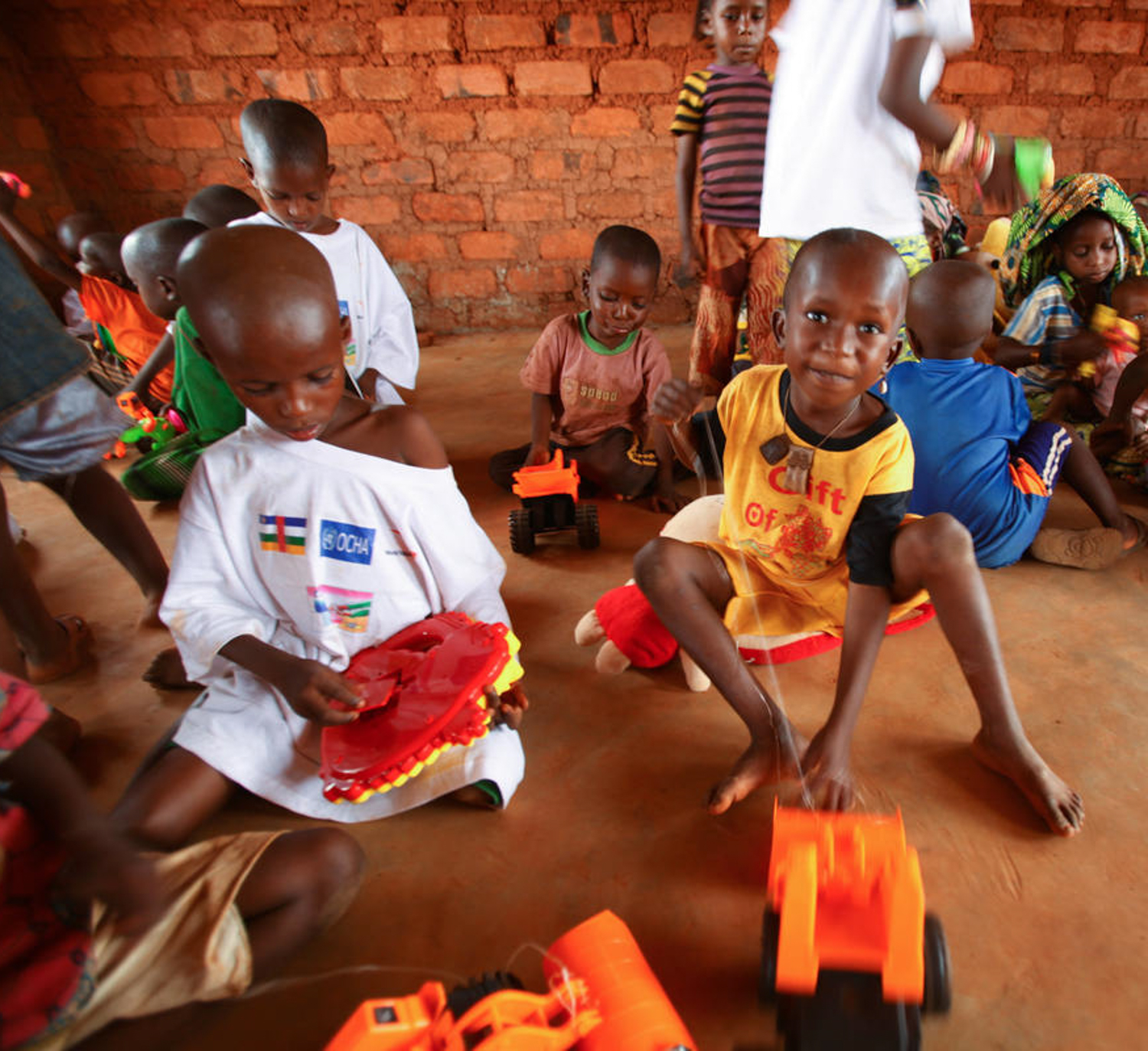 Kids playing during Central Africa Republic Emergency