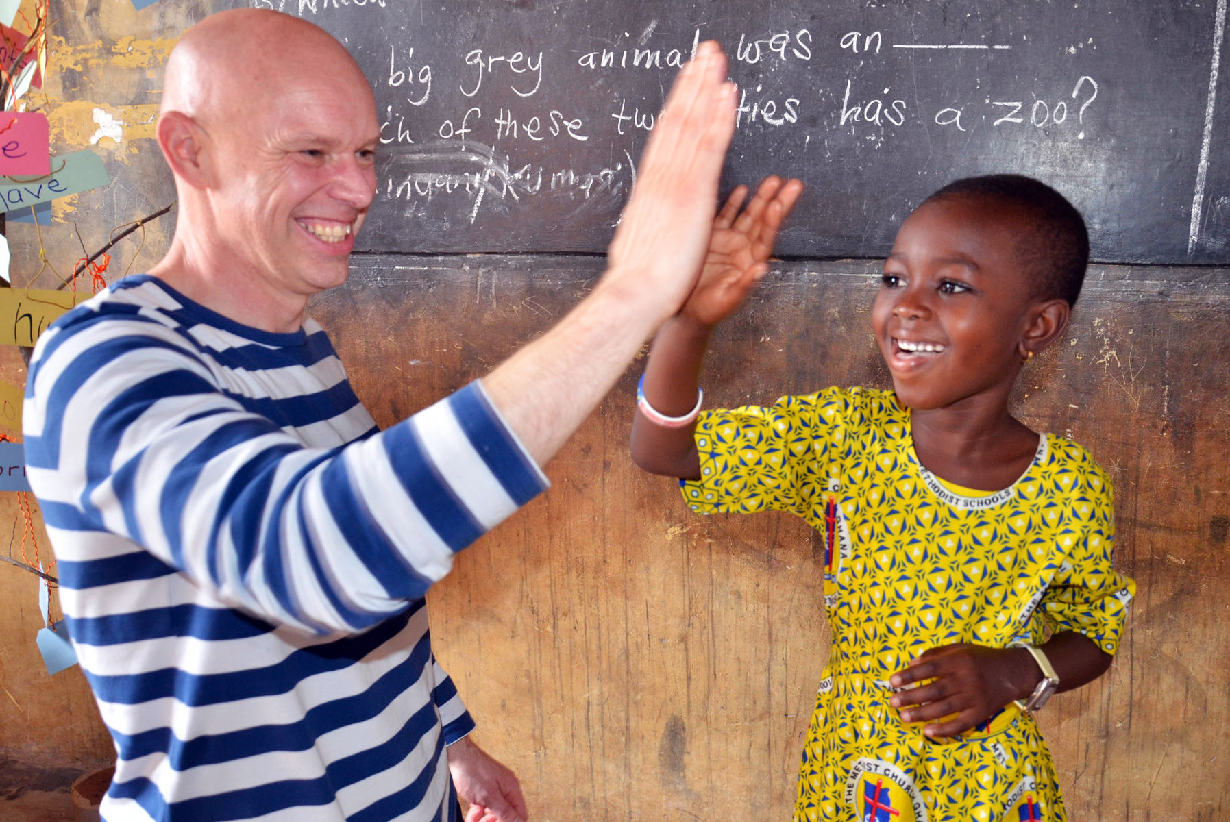 Andrew Morley meets sponsored child Ivy