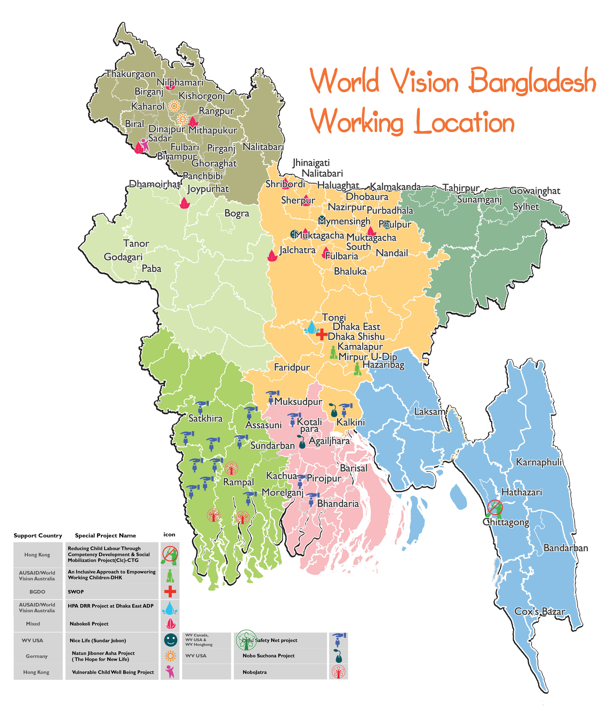 Picture of: Programme Locations World Vision International