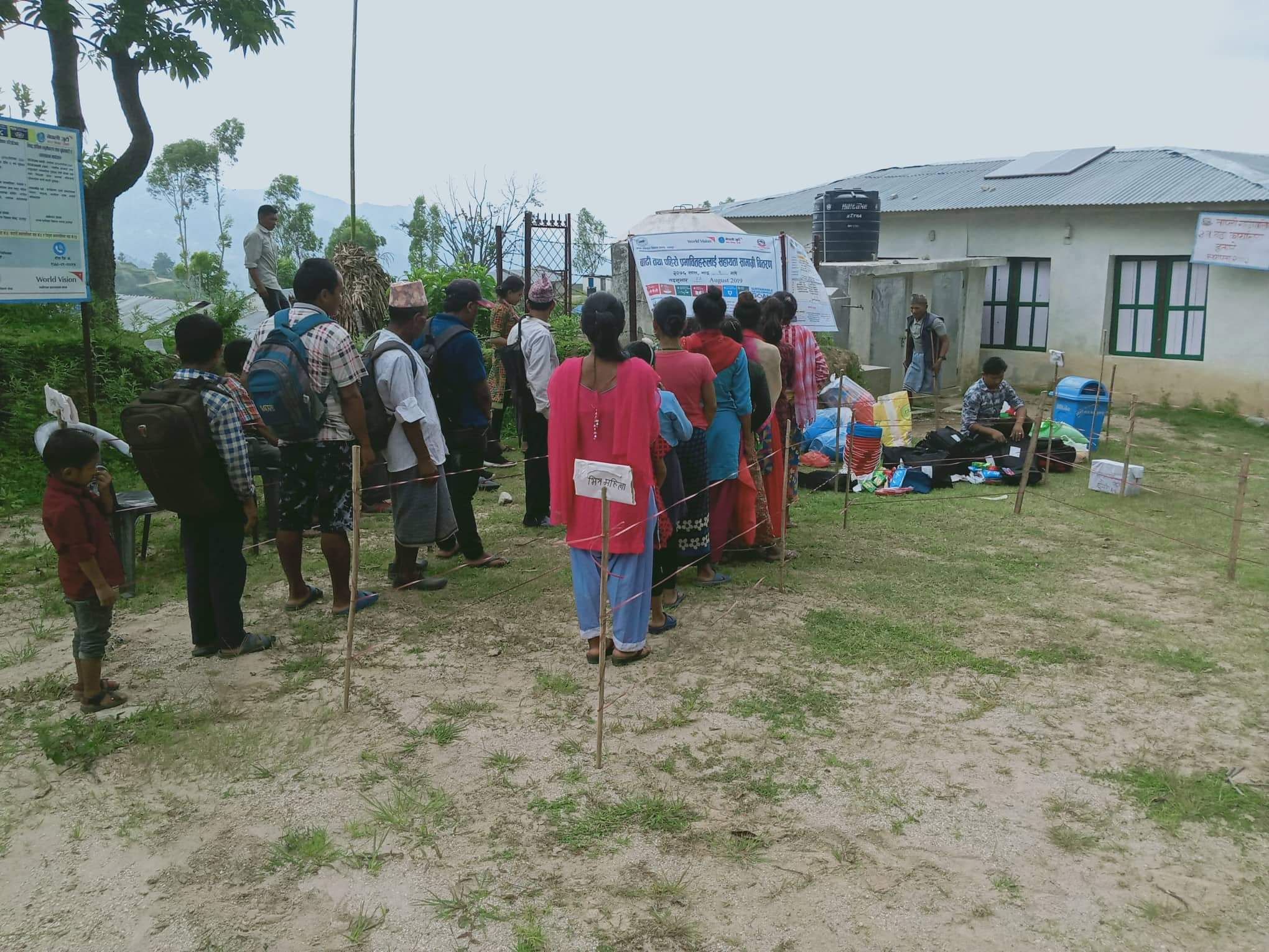 Flood-affected communities in queue to receive Life-Saving Aid