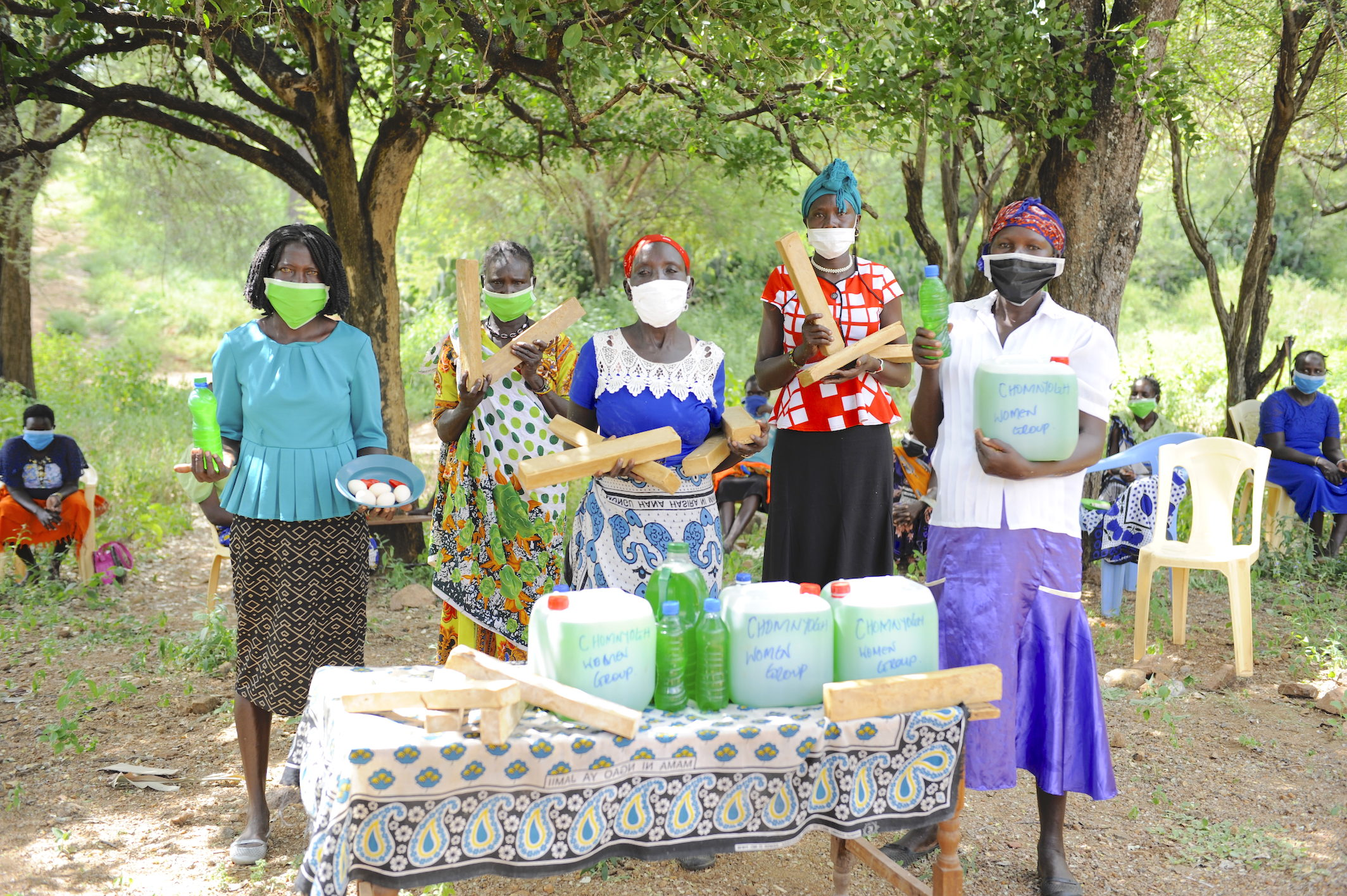 Chomnyogh Women's Group that she heads and made a decision to increase the production of locally made soap so as to make them accessible to families.