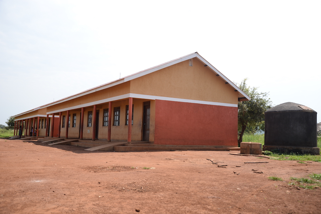 The dilapidated grass-thatched classroom blocks were replaced with modern classroom blocks