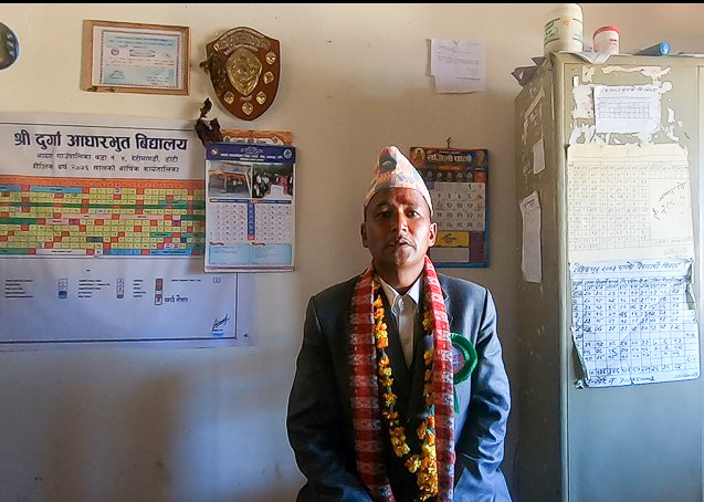 The school principle Padam Bahadur Rokaya