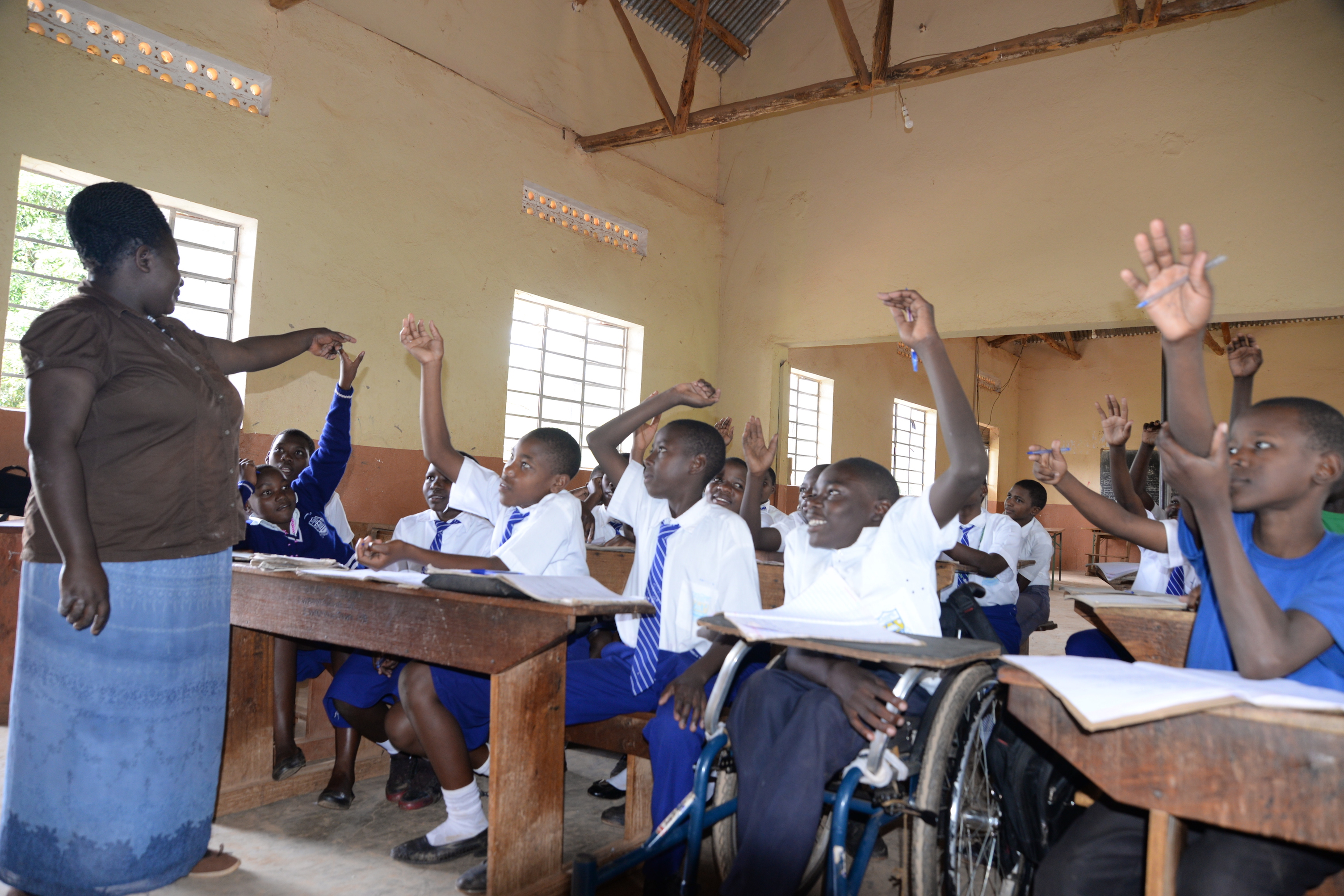 Ashiraf is able to participate in all school activities because of the wheelchair.