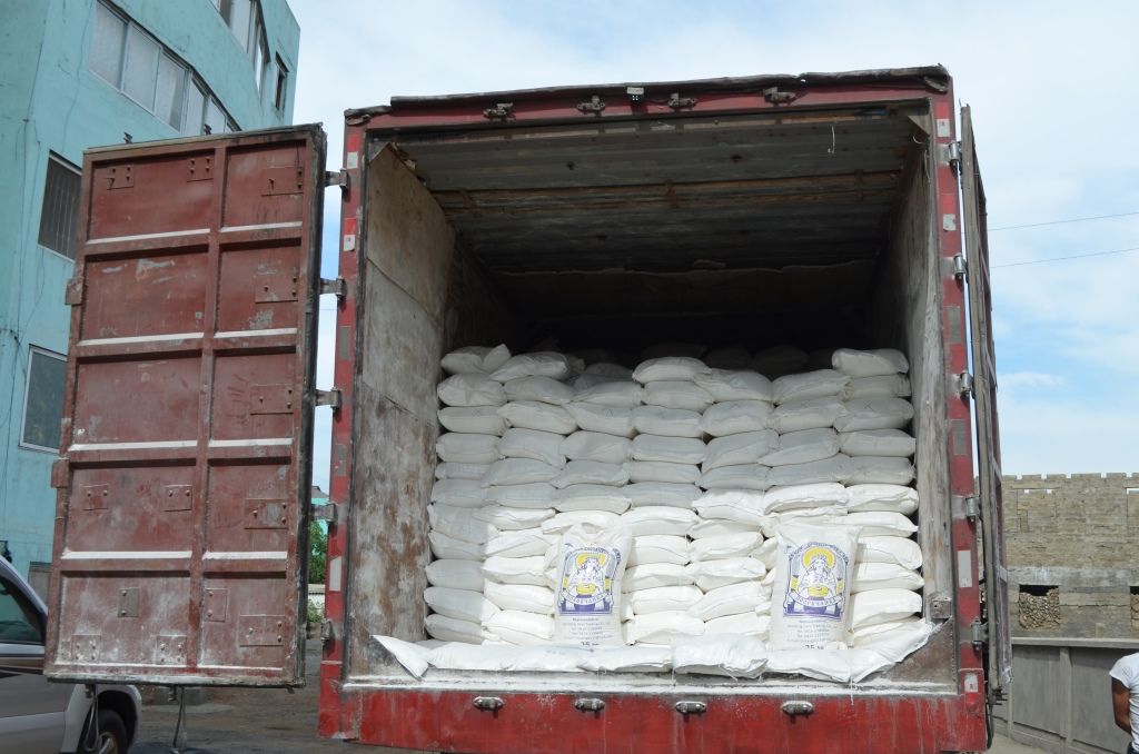 Truck full of flour