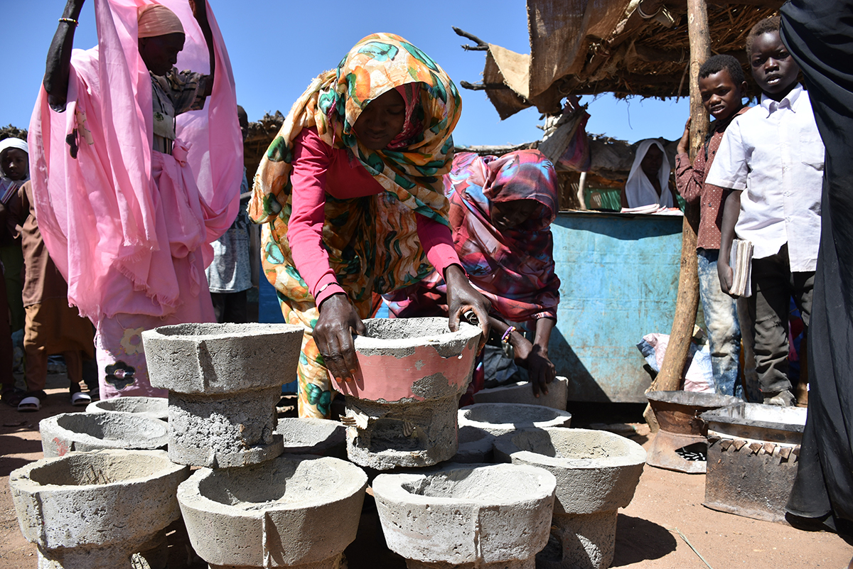 The fuel-efficient stoves building business seems promising for many women in Otash village.