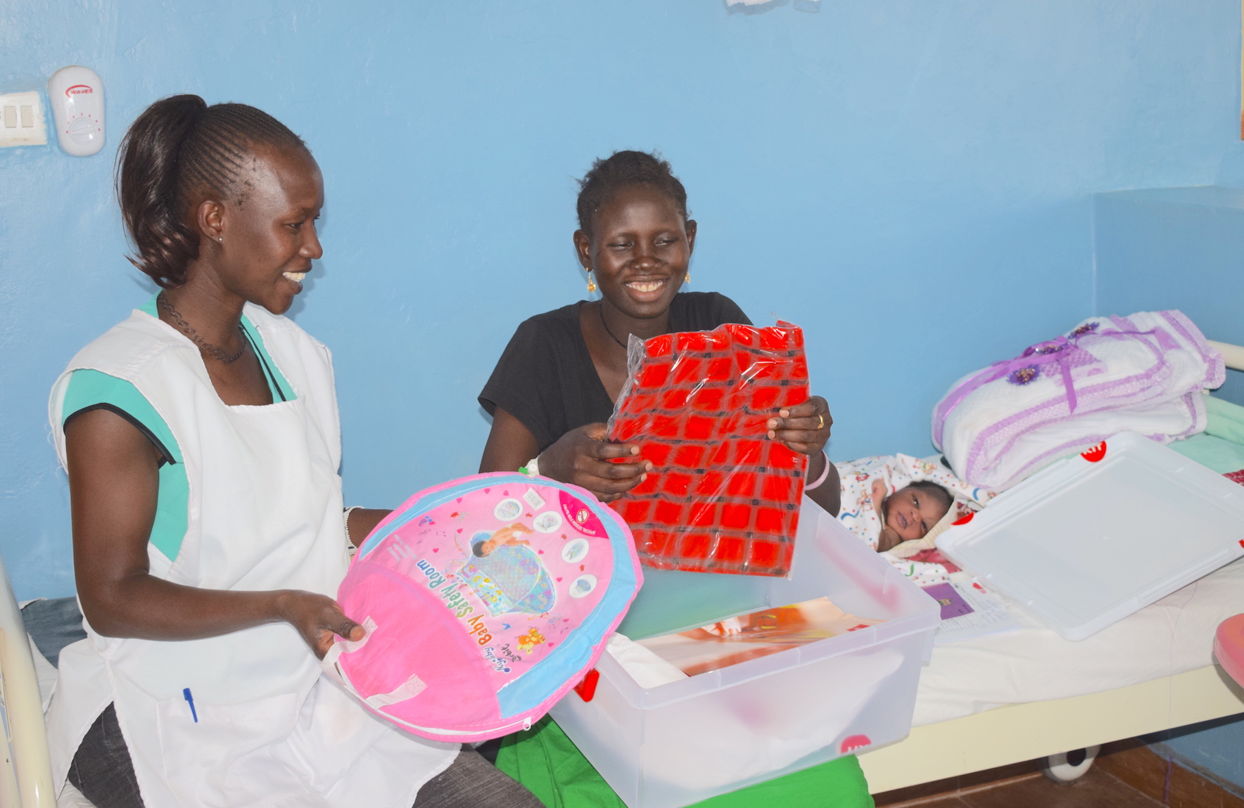 The Finnish Baby Kits are motivating women in Kenya's Turkana County to deliver in health facilities. ©World Vision  Photo/Sarah Ooko.