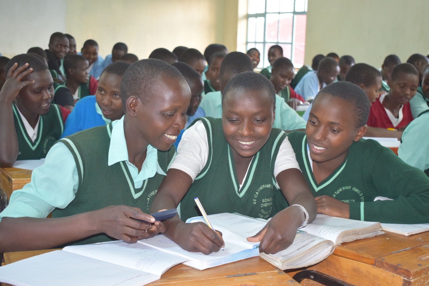 Children Studying at a school supported by World Vision in West Pokot County, Kenya. Due to the COVID-19 pandemic, schools have been closed in Kenya.