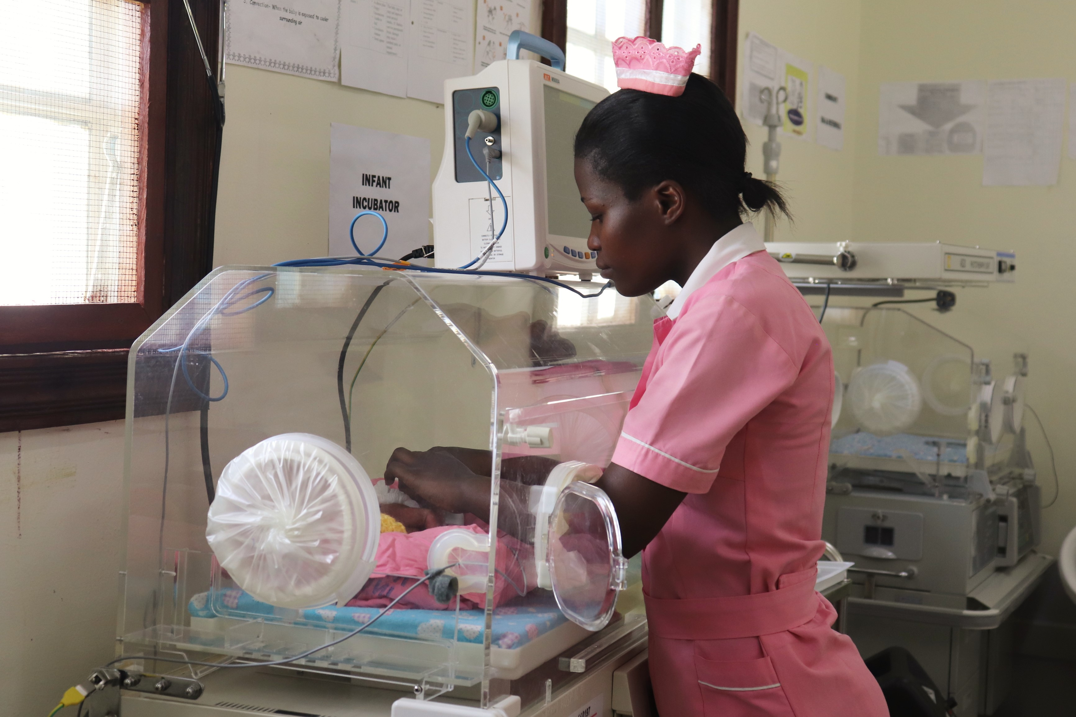 The midwives and nurses have gone through training in caring for premature babies