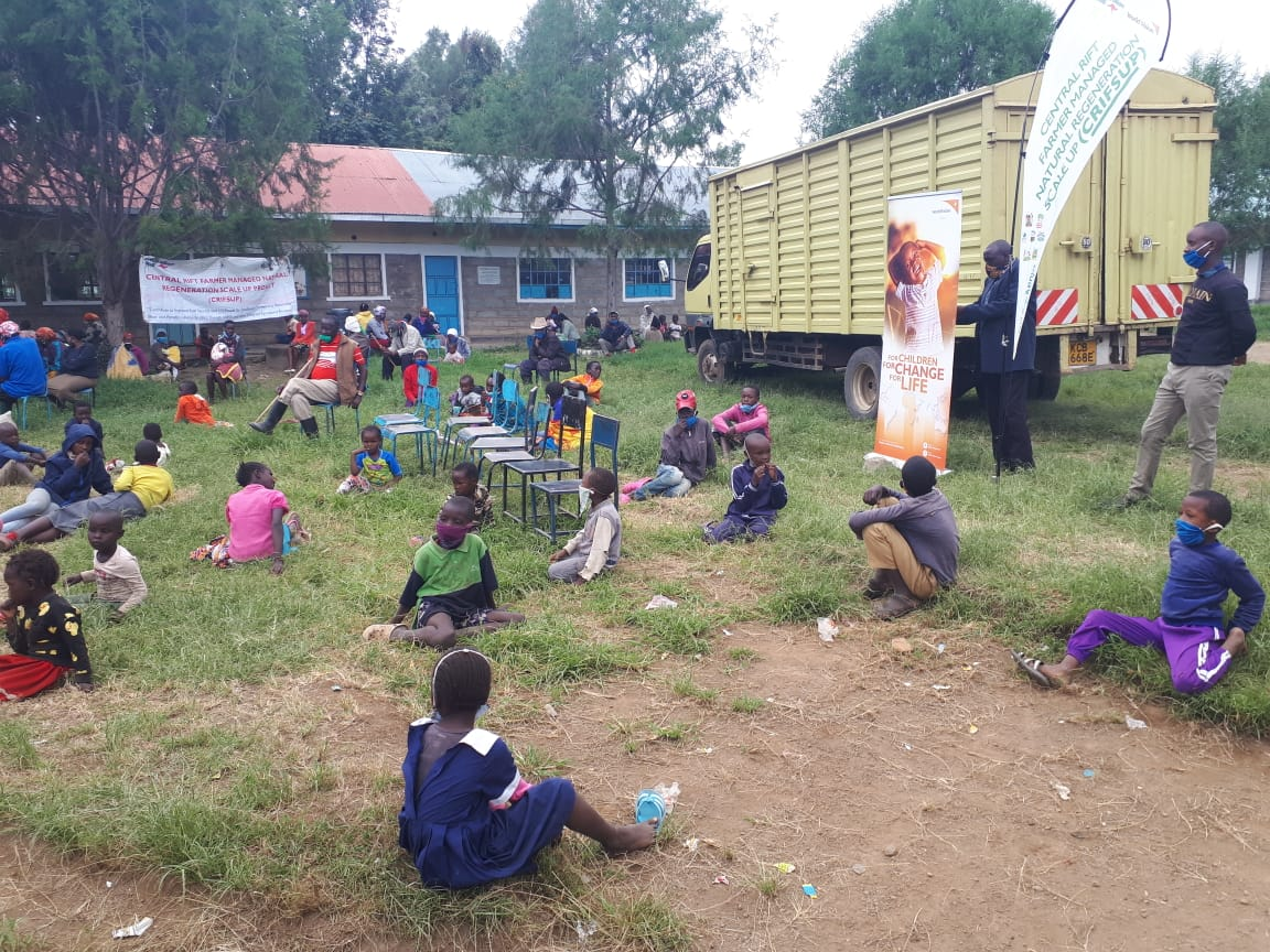 Families affected by floods at Ndabibi in Nakuru County, Kenya at a school that has been turned into a temporary camp