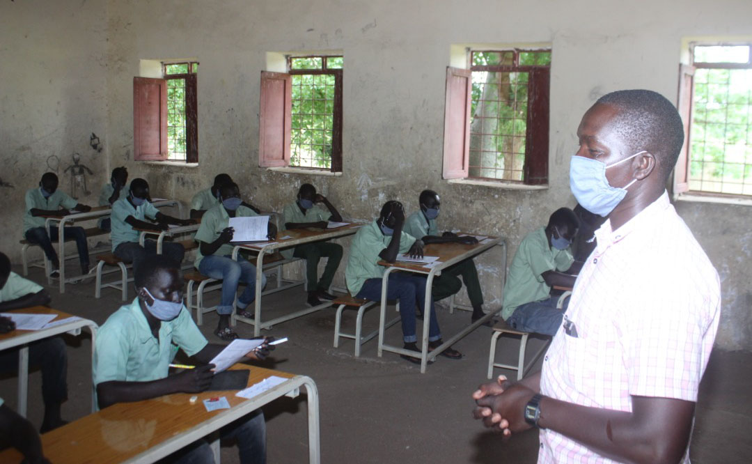 After months of being away from school due to the coronavirus, these girls in Blue Nile state were excited to finally be back in school, and even more, sit their final year exams.