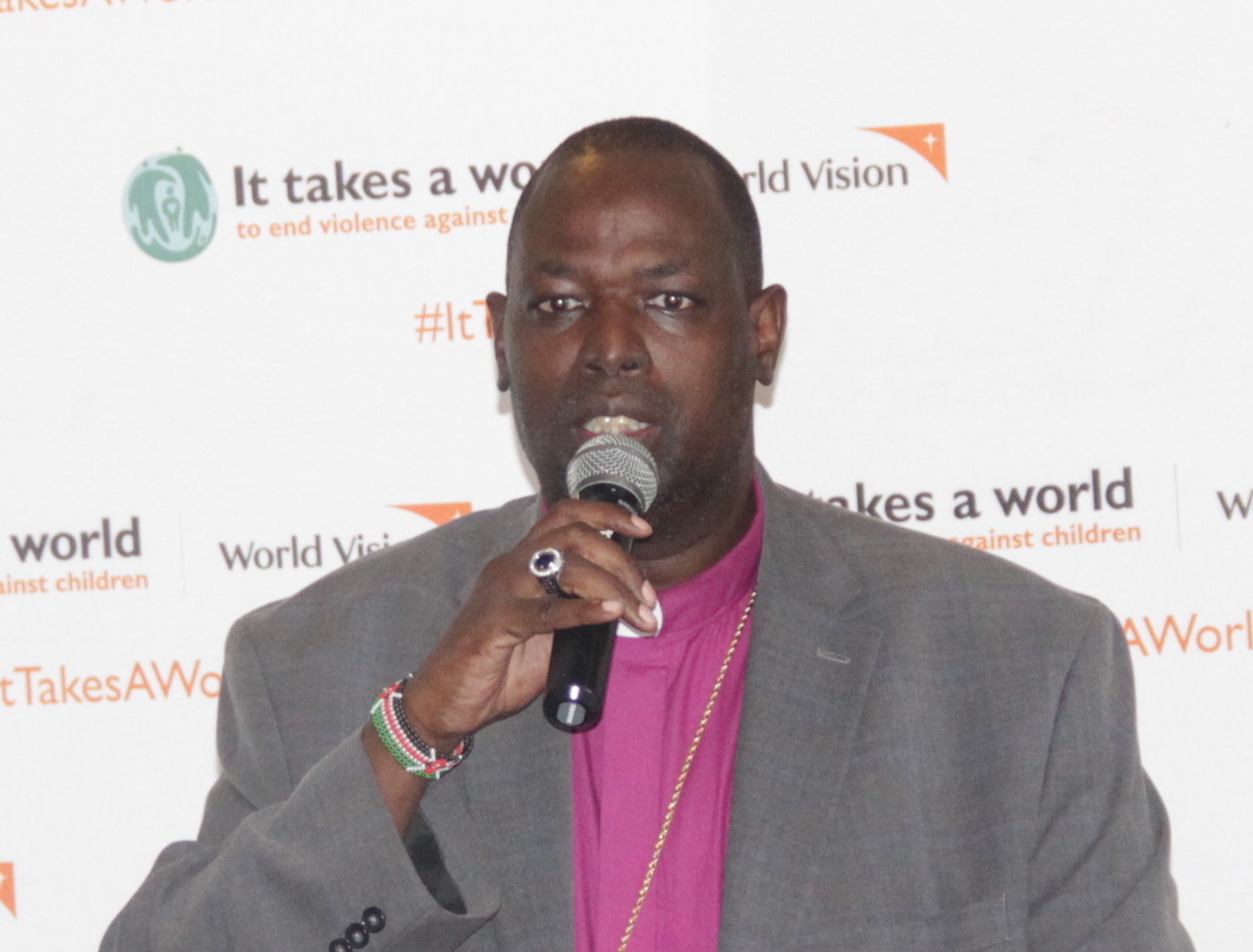 Dr. Jackson Ole Sapit, the head of the Anglican Church in Kenya (ACK). ©World Vision Photo/Nelson Olilo
