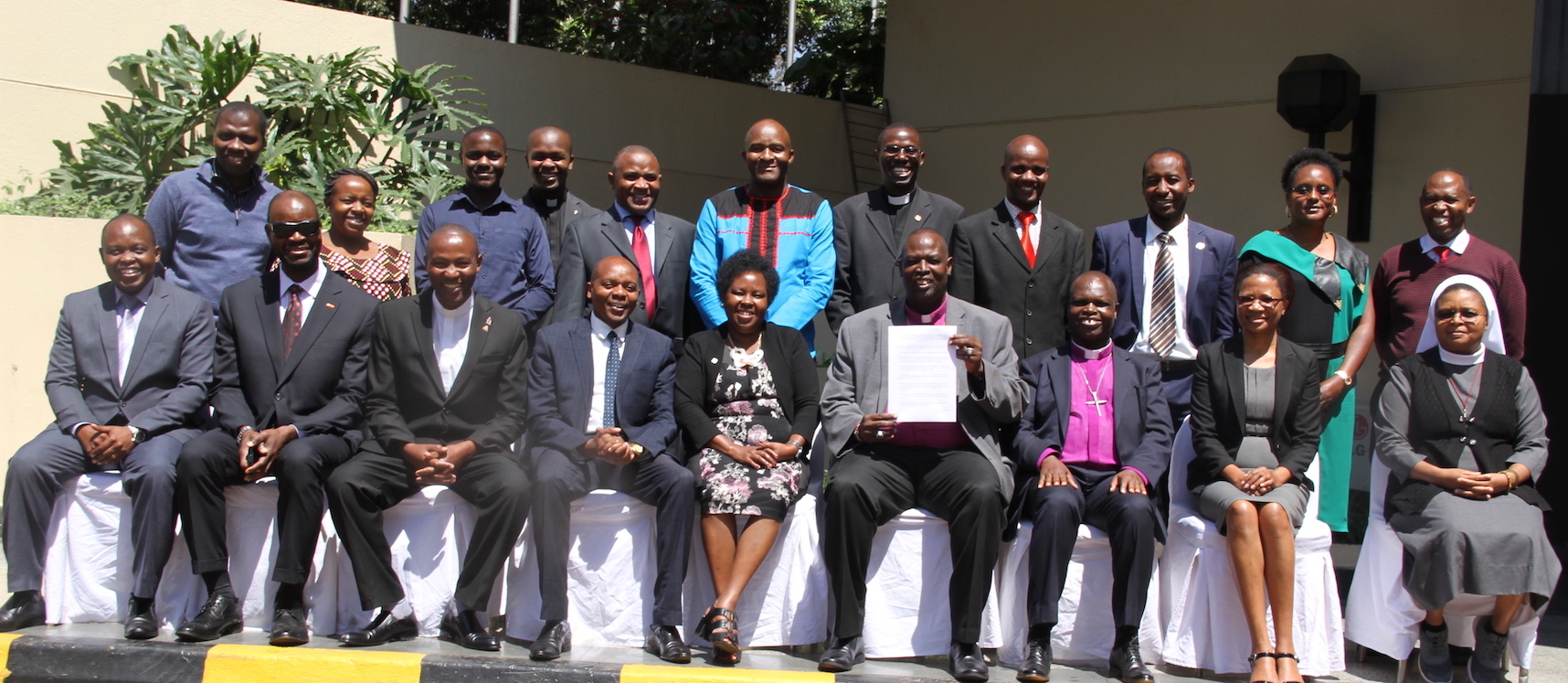 Religious leaders from various Christian denominations and organisations that have committed to fight child abuse in Kenya. ©World Vision Photo/Nelson Olilo