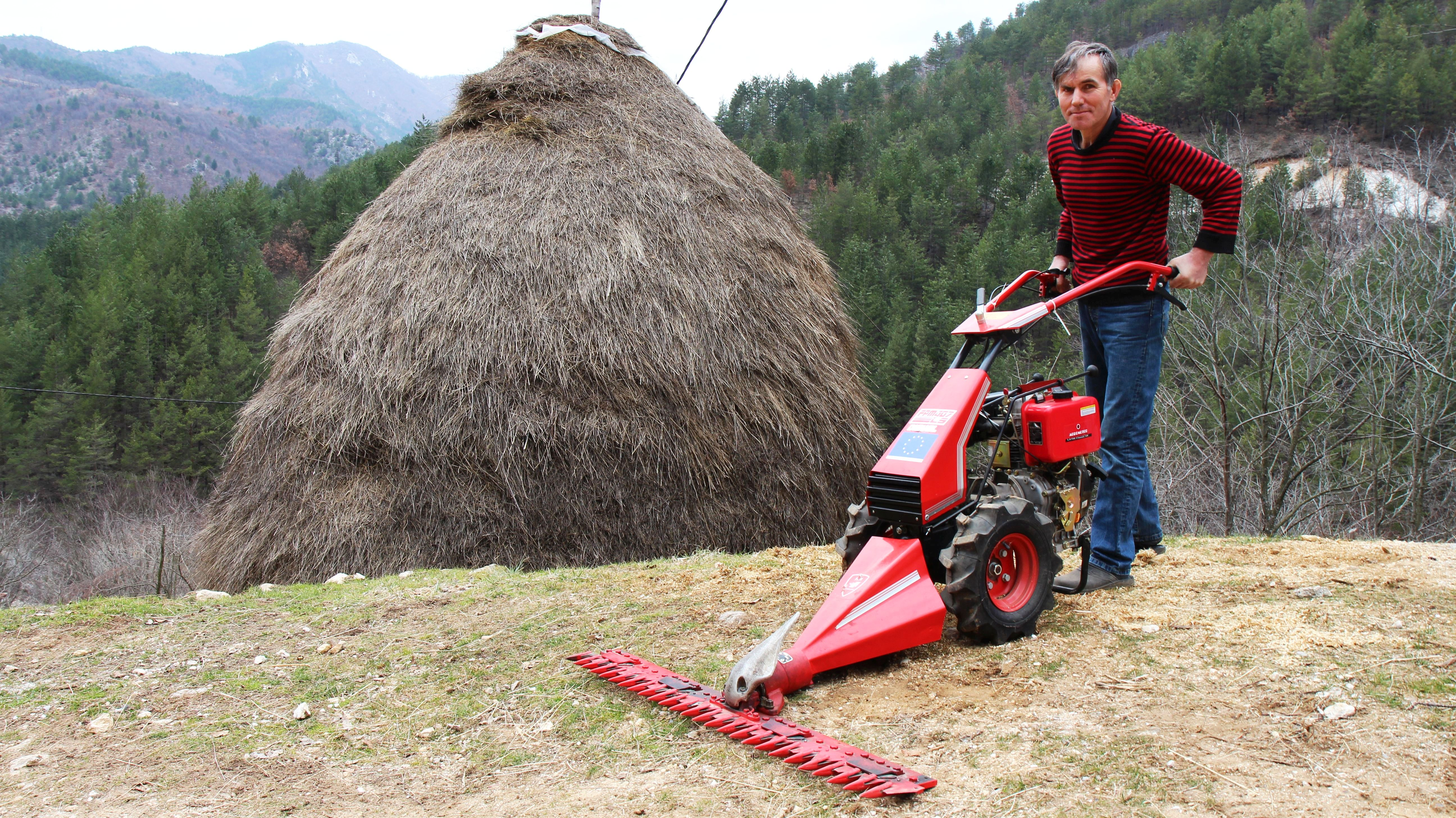 Vahid reasembled the mower and it works!