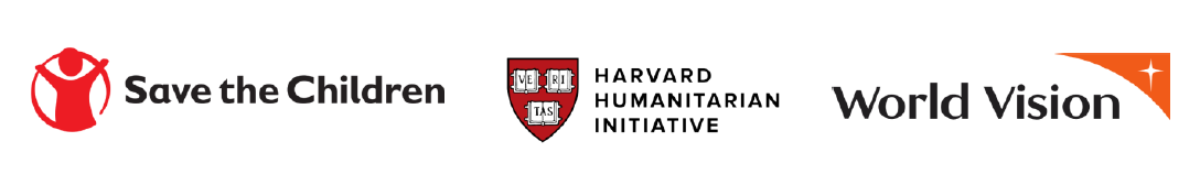 Logos of Harvard Humanitarian Initiative, World Vision and Save the Children