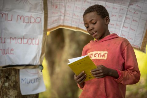Reading camp in zambia