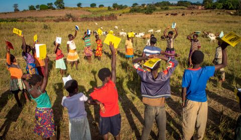 World Vision's reading camp in Zambia