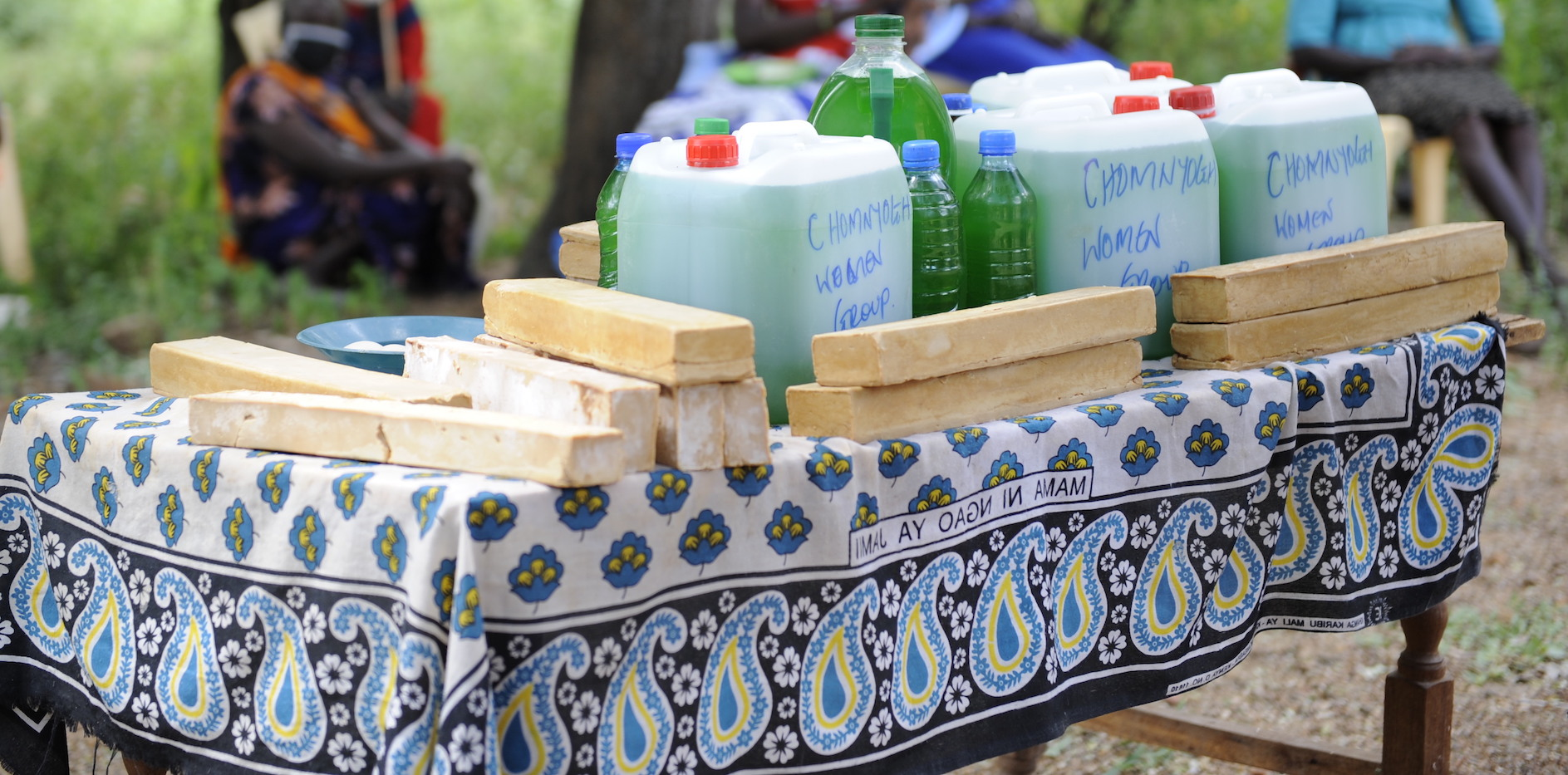 Soap made by the women to help fight COVID-19 in Baringo County, Kenya. ©World Vision Photo/Dickson Kahindi.