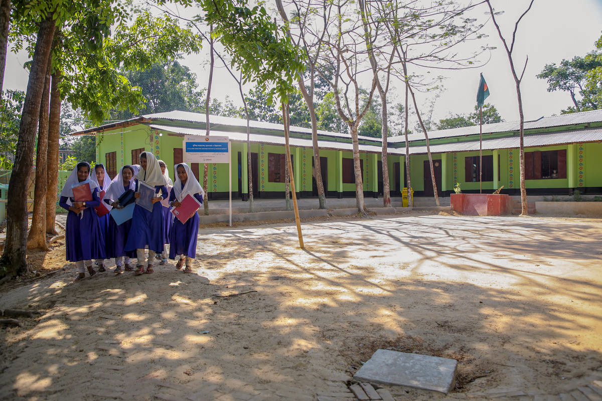 To support local communities in need and provide short-term jobs, World Vision hired residents to strengthen infrastructure to prepare for the monsoons. This renovated school now doubles as a cyclone shelter for up to 6,000 people.