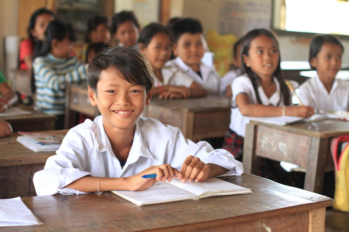 Now Chamrong is doing well in school thanks to the reading club.