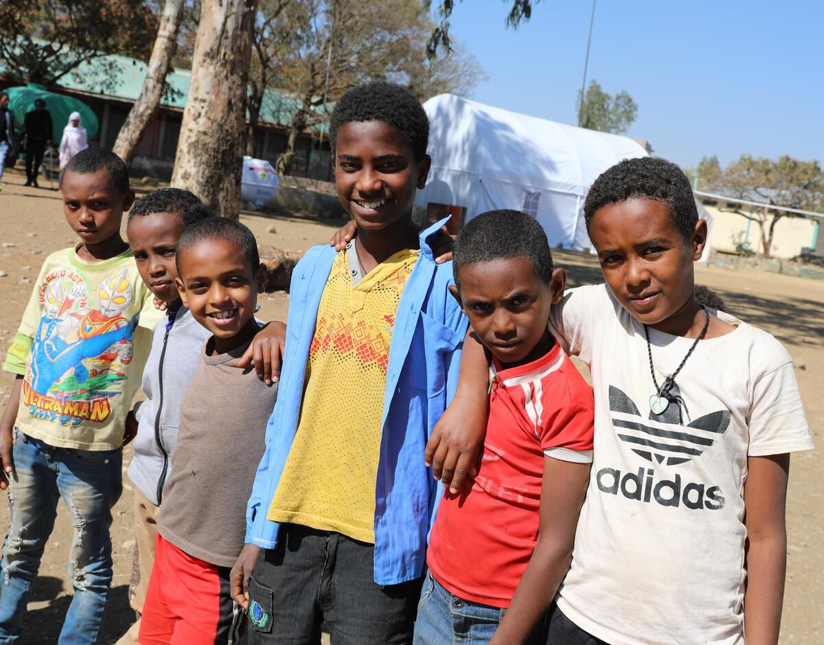 Yonas is one of 2.3 million displaced children in Tigray, Ethiopia