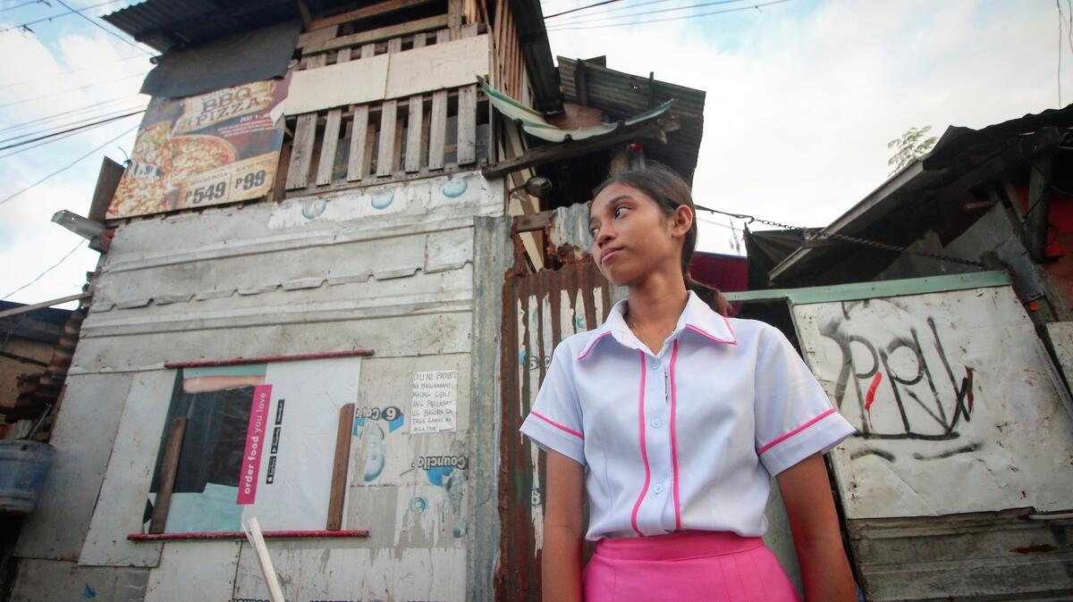 Angel's family rent a shanty in a junkyard-turned-residential compound