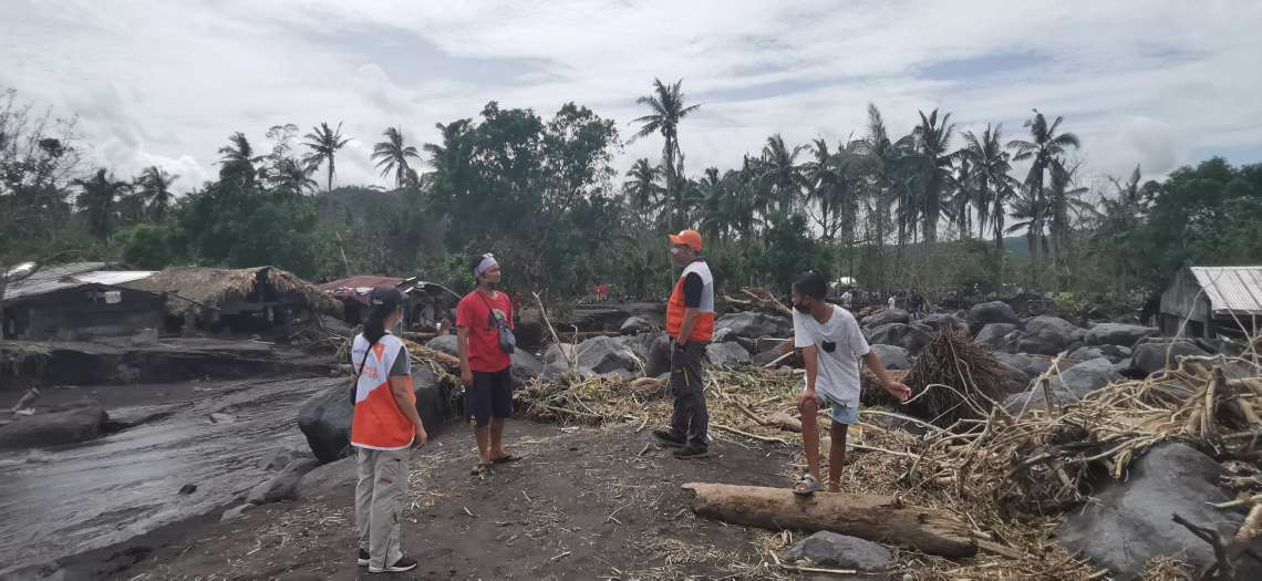 World Vision Philippines' disaster response team surveys the damage