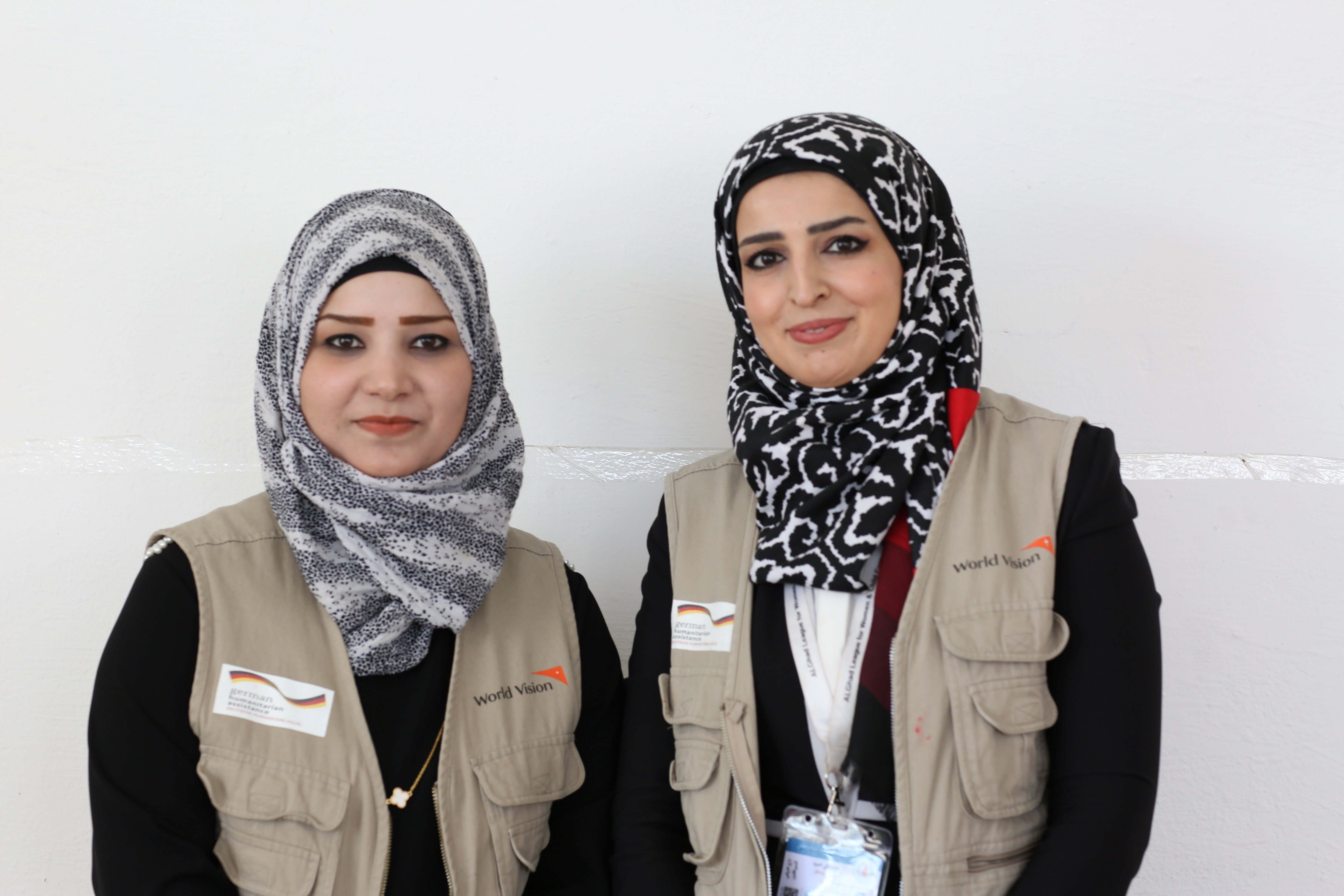 Zahra and Noor- working in MHPSS programming in Mosul