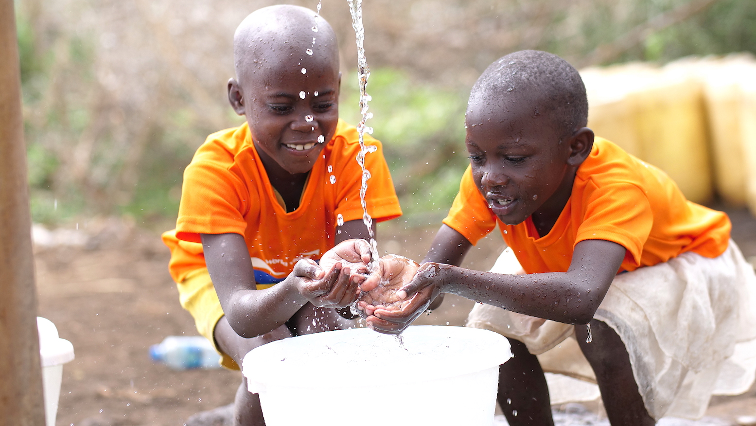 Handwashing with soap and water helps in COVID-19 prevention. ©World Vision Photo/Charles Kariuki.