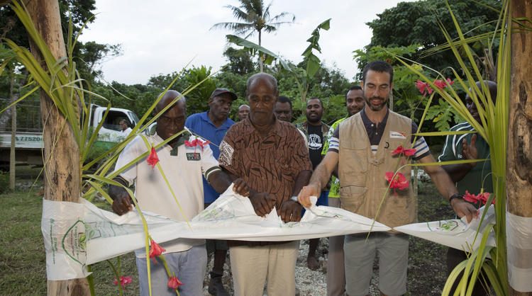 The ANCP-funded Waste Not Want Not program is officially opened at a ceremony in Vanuatu.