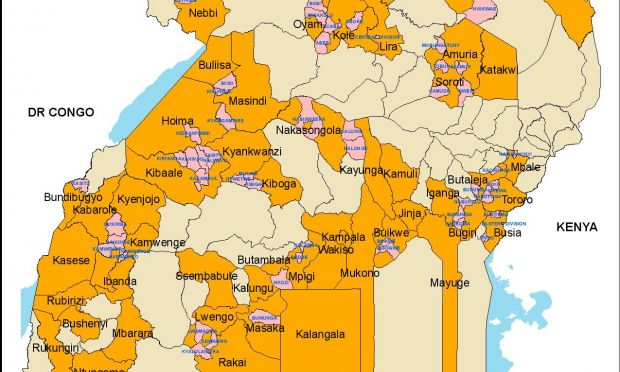 World Vision Uganda operation areas as of 2017 | World Vision ...