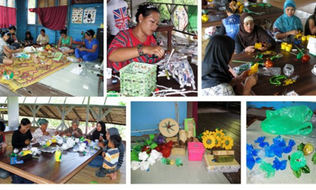 Garbage bank solution to environment problem in siantan for Useful items made from waste materials