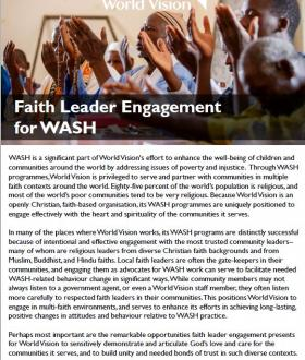Faith Leader Engagement cover