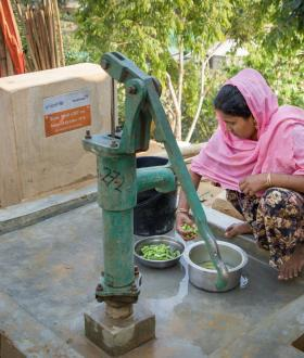 Water means life for women in this camp