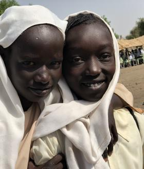 Girls at a school in Sudan's Blue Nile, that World Vision targeted to support as part of its efforts to improve the learning environment for children.