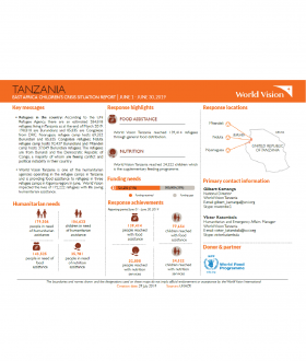 Tanzania - June 2019 Situation Report