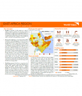 East Africa Region - August 2019 Situation Report