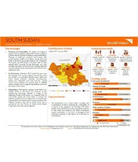 South Sudan - August 2019 Situation Report