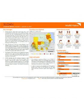 Sudan - August 2019 Situation Report