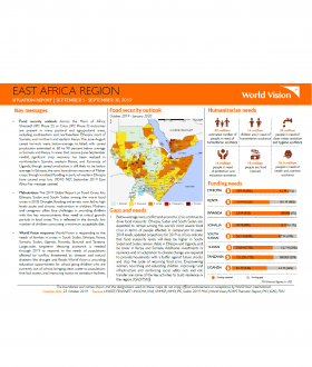 East Africa Region - September 2019 Situation Report