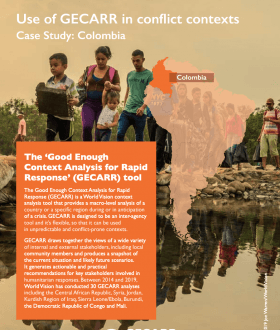 Use of GECARR in conflict contexts Case Study: Colombia cover