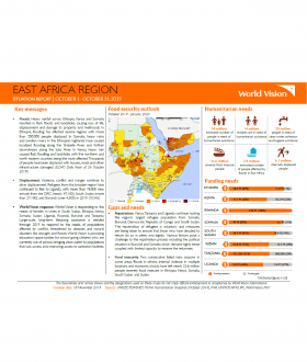 East Africa Region - October 2019 Situation Report