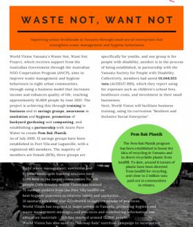 Waste Not Want Not Project Fact Sheet