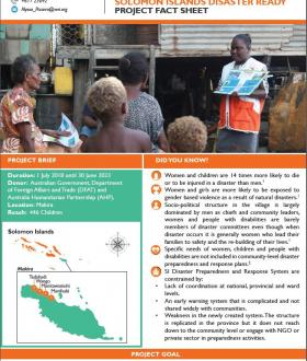 World Vision Solomon Islands Disaster Ready Project