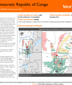 Ebola Crisis Response Situation Report Nov. 5