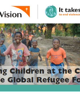 Cover of World Vision's GRF pledge document